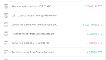 005 btc to php